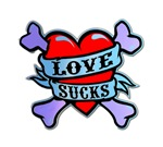 Love Sucks 2 T-shirts. Get the original LOVE SUCKS