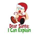 Dear Santa: I can Explain T-shirts and gifts. For