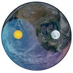 21st Century Blue Yin- Yang Marble