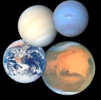 Planet and Moon ornaments