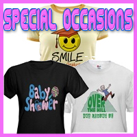 Special Occasion T-Shirts, Keepsakes, & Gifts