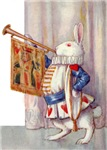 ALICE'S TRUMPETING COURT RABBIT