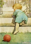 Toddler With A Ball