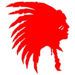 Red Indian Headdress Outline