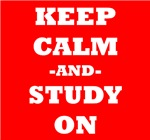 Keep Calm And Study On (Red)