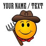 Custom Smiley Face Cowboy
