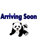 Arriving Soon. With cute Panda Bear Picture