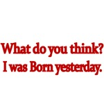 What do you think? I was born yesterday