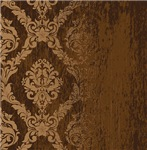 Fading Cocoa Brown Damask