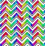 Psychedelic Chevron Stripes