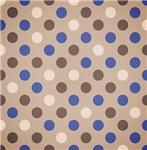 Cute Brown and Blue Polka Dots