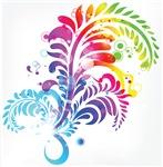 Pretty Colorful Flourish