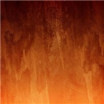 Orange Fire Watercolor Abstract