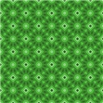 Cute Green and Diamond Shapes Pattern