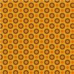 Orange and Yellow Star Pattern