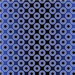 Gradient Double Circles Pattern