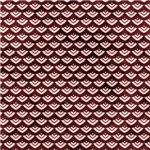 Pretty Burgundy Scallops Pattern