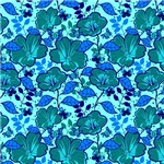 Large Turquoise Flower Pattern