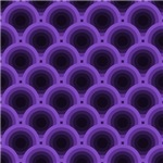 Purple and Black Overlapping Circles Pattern