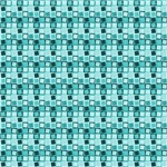 Turquoise Crazy Squares Pattern