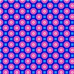 Pink and Blue Octagon Pattern