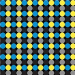 Yellow, Black, and Blue Bling Dots