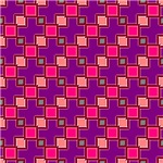 Contemporary Pink and Purple Interconnecting Squar