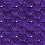 Purple Honeycomb Pattern