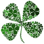Lucky 4 Leaf Clover Irish