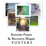 Serenity Prayer & Recovery Slogan Posters
