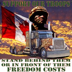 Truckers Support Our Canadian Troops
