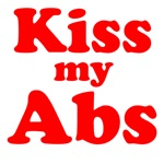 Kiss my Abs (red text)