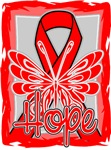 Hope Butterfly Blood Cancer Ribbon Shirts