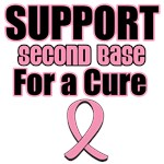 Support Second Base For a Cure T-Shirts
