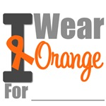 I Wear Orange Ribbon T-Shirts, Apparel & Gifts