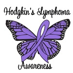 Hodgkin's Lymphoma Awareness Butterfly T-Shirts