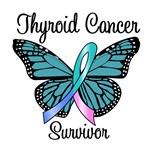 Butterfly Thyroid Cancer Survvior T-Shirts