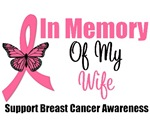 In Memory of My Wife Breast Cancer Shirts