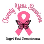 20 Year Breast Cancer Survivor T-Shirts