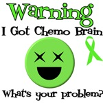 Warning Chemo Brain Lymphoma T-Shirts & Gifts
