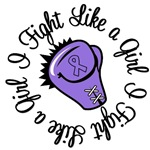 I Fight Like a Girl Hodgkin's Lymphoma T-Shirts