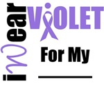 I Wear Violet Ribbon Stylish T-Shirts & Gifts