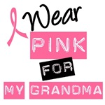 I Wear Pink Ribbon For My Grandma Label T-Shirts