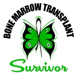 Bone Marrow Transplant Survivor Butterfly T-Shirts