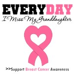 Everyday I Miss My Granddaughter Breast Cancer Tee