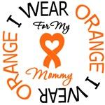 I Wear Orange Mommy Leukemia Shirts