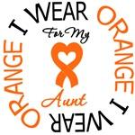 I Wear Orange Aunt Leukemia Shirts