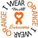 I Wear Orange All Survivors Leukemia Shirts