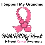 Breast Cancer I Support My Grandma T-Shirts & Gift