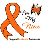 Leukemia Ribbon For My Niece Shirts & Gifts